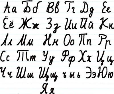 Cómo se escribe el Ruso a mano